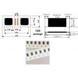 مقاومت 33 اهم SMD ، بسته بندی 1206 بسته 50 تایی
